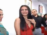 Sexy Neha Dhupia Caught Without Bra At Minissha&#039 S Exhibition