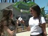 Star-Studded Six Flag&#039 S Green Lantern Ride Opening