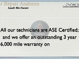 Saab Mechanic Anaheim - Saab 9-5 Sedan Repair Shop Anaheim