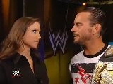 Stephanie McMahon & CM Punk Backstage