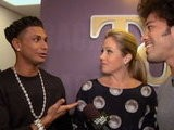 The Tonight Show With Jay Leno Backstage: Christina Applegate & DJ Pauly D