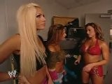 Torrie Wilson, Nidia And Dawn Marie Backstage Smackdown 9.11.2003