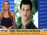 Taylor Lautner & Lily Collins On Kissing In ' Abduction'