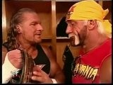 Triple H & Hulk Hogan Backstage Segment - YouTube