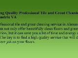 Tile And Grout Cleaning Alexandria VA