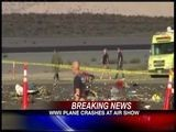 WWII Plane Crashes At Air Show