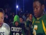Youth Football Players Hold Vigil To Remember Teammate