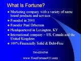 Forturn Hi-Tech Marketing Perfect Home Business Opportunity Ann Arbor