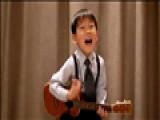 Cute Boy Plays Ukulele - Obladi Oblada
